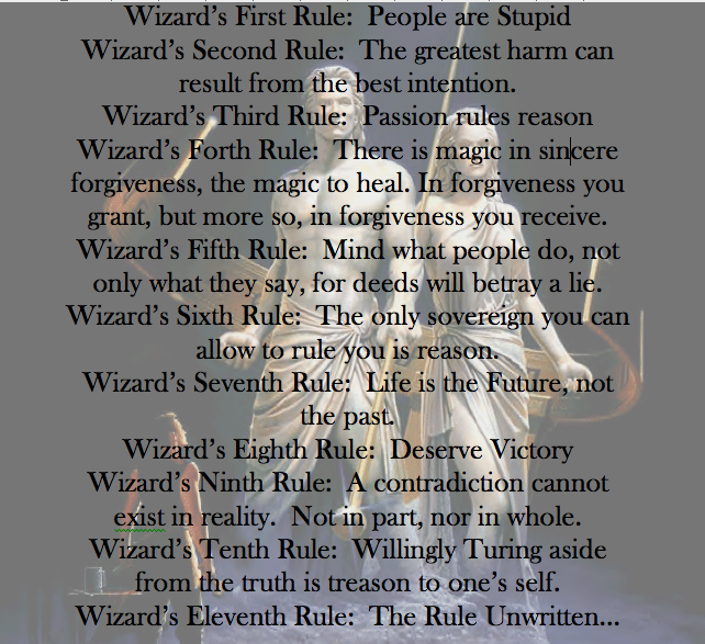 The Wizard's Rules Sword of Truth